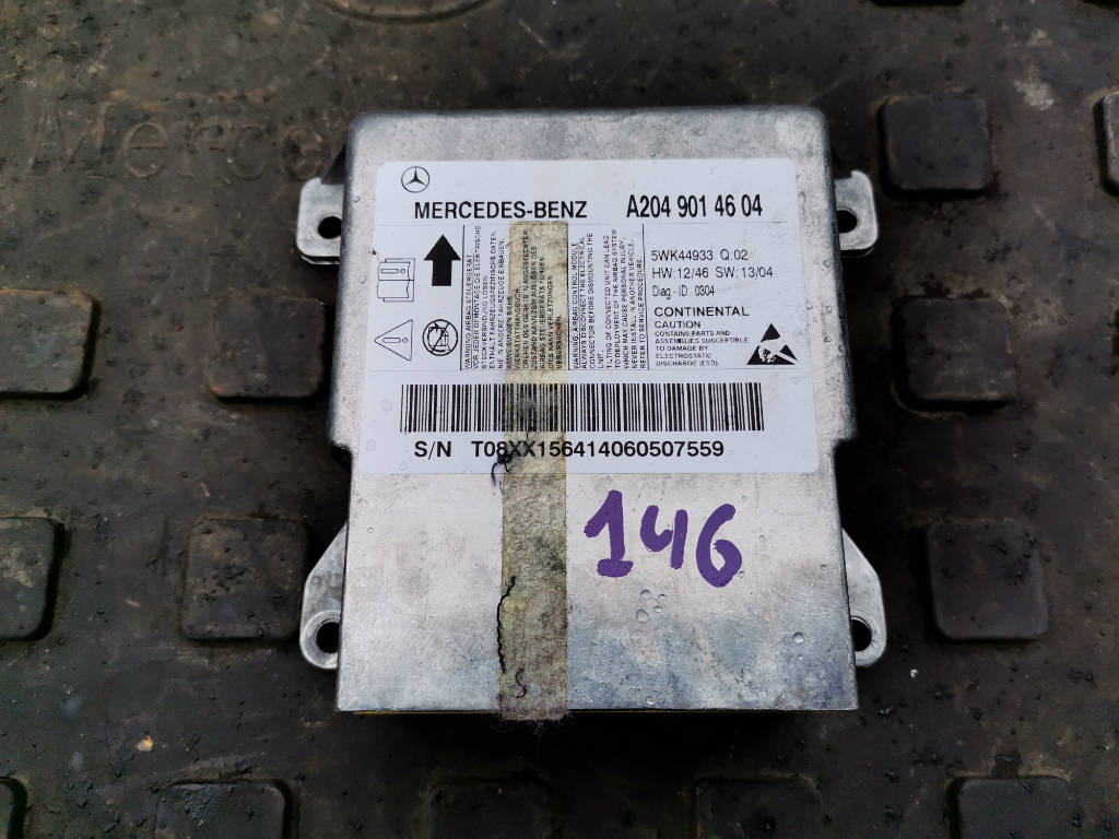 Блок управления airbag A2049014604 Mercedes-Benz GLK-Class 2014 X204 651.912